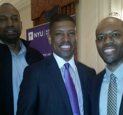 KEVIN JOHNSON SPEAKS AT NYU ON SPORTS IN THE CITY